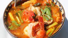 TOM YAM KUNG : recette traditionnelle Thaïe, soupe épicée et acidulée - ...