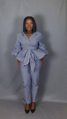 Short African Dresses, African Blouses, Latest African Fashion Dresses, African Print Dresses, African Print Fashion, African Wear, African Attire, Ankara Stil, African Print Pants