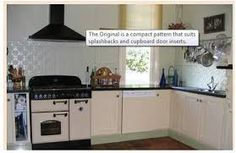 painted pressed tin backsplash - Google Search