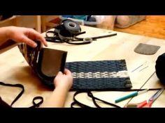 Πλεκτό τσαντακι με την τεχνικη του ειδικού πλαστικού καμβά και λωρίδες eco