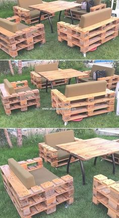 A beautiful and artistic simple garden furniture design has been crafted here with the pleasant working of the mode effects. This whole crafting of th., Wonderful Creations Made with Recycled Pallets Garden Furniture Design, Pallet Garden Furniture, Pallets Garden, Furniture Decor, Barbie Furniture, Furniture Vintage, Palette Furniture, Furniture Projects, Painted Furniture