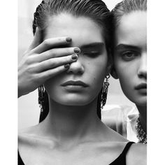 See Me Through 👁💥 Photos by Luigi and Iango, Vogue Italia January 2018 - Models: Nina Marker and Sophie Rask