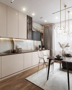 Kitchen Room Design, Home Room Design, Modern Kitchen Design, Interior Design Kitchen, Kitchen Modular, Beige Living Rooms, Modern Kitchen Interiors, Home Remodeling Diy, Küchen Design