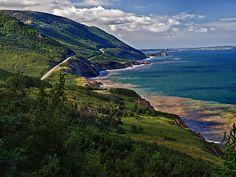 Cape Breton Highlands by Kathy Weaver  Along the Cabot Trail on Cape Breton Island, Nova Scotia, Canada.