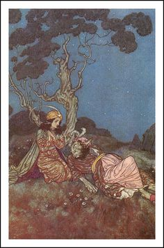 Yes, I will Marry You, Beast. Illustration to Beauty and the Beast - by Edmund Dulac Edmund Dulac, Arthur Rackham, Fairytale Art, Marry You, Book Illustration, Artist Art, Beauty And The Beast, Beauty Beast, Fantasy Art