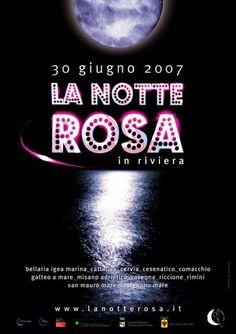 "Locandina ""La Notte Rosa 2007"""