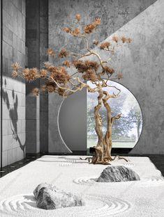 Unique Lawn-Edging Ideas to Totally Transform Your Yard - The Trending House Zen Garden Design, Japanese Garden Design, Japanese Interior, Patio Design, Zen Design, Chinese Interior, Jardin Zen Interior, Interior Garden, Interior And Exterior