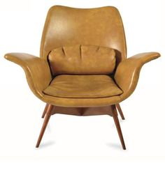 Grant Featherston; Eleanor E1 Elastic Suspension Armchair, 1950s.