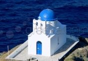 The colours of this small chapel in Kastro Sifnos are in great harmony with the sea