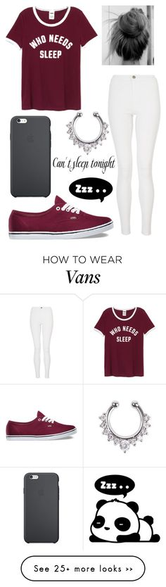 """Who Needs Sleep"" by aissa1026 on Polyvore featuring Quiz, Vans and Hollywould"