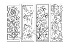 Valentine Coloring Bookmarks Page,  Instant Download, Relax Mandala Designs to Color for Adults to P Adult Coloring Book Pages, Printable Adult Coloring Pages, Cute Coloring Pages, Coloring Books, Mandala Design, Gifts For Bookworms, Dot Art Painting, To Color, Zentangle Patterns