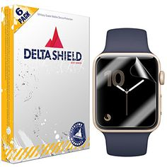 Apple Watch Screen Protector (38mm Series 3/2/1 Compatible)[6-Pack], DeltaShield BodyArmor Full Coverage Screen Protector for Apple Watch Military-Grade Clear HD Anti-Bubble Film #Apple #Watch #Screen #Protector #Series #Compatible)[ #Pack], #DeltaShield #BodyArmor #Full #Coverage #Military #Grade #Clear #Anti #Bubble #Film