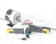 350W Electric DC Gear Motor Kit And Controller And Throttle Handle With Battery…