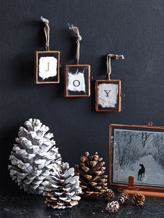 #HarveysChristmas Three Mini Hanging Frames - in copper, work well all year long, not just at Christmas.