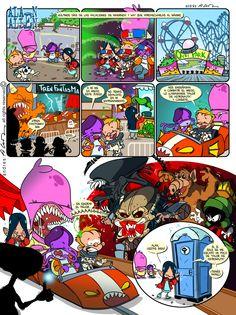 Alan Alien - Pagina 13 - Publicada en la revista infantil PIN - Guion & Arte (realizado de forma digital)