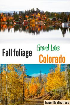 The lake was silently reflecting the fall colors. No tiny waves shook the reflection. The water of the lake stood still under the spotless blue sky. The fall foliage in Grand Lake is like a poem; a poem that can be lived. #Fall #TravelColorado #GrandLake #FallColorsUSA #TravelAmerica #America Grand Lake Colorado, Beautiful Places, Beautiful Pictures, Photo Essay, Waves, America, Explore, Fall, Amazing