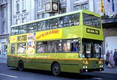 Dublin Bus [Phibsboro] Bombardier was a platform for electronic destination displays as far back as Scan from a slide. Double Decker Bus, Bus Coach, Busses, Coaches, Dublin, Trains, Transportation, Ireland, Irish