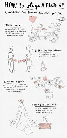 tips + tricks | how to stage a photo-op | via: BHLDN
