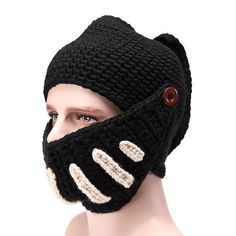 5c35b905fdc Solid Adult Novelty Beanie Rome Knight Knitting Hat Manual Winter for sale  online