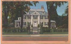 Unused Postcard, Longfellow Home, Cambridge, Massachusetts, c1930s, good shape by VintageNEJunk on Etsy
