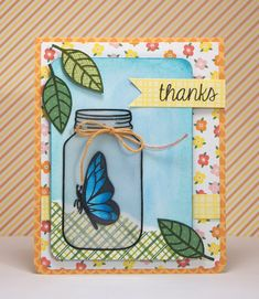 Lawn Fawn Summertime Charm by Yainea _ also Flutter By, Pink Lemonade paper