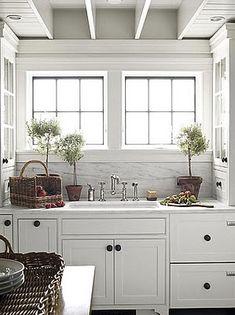 Color Outside the Lines: Kitchen Inspiration Month: Day Seven - Carrara Marble Backsplash