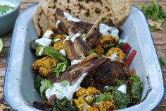 Indian-spiced Mutton Chops with Roasted Cauliflower
