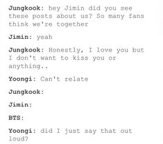 Jimin and Yoongi