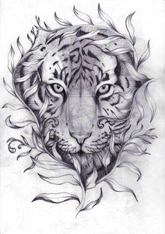Tiger tattoo for men and women from traditional black and grey designs tatt Tattoo Sketches, Tattoo Drawings, Body Art Tattoos, New Tattoos, Sleeve Tattoos, Tattoos For Guys, Tattoo Girls, Girl Tattoos, Heart Tattoos