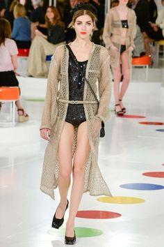 Chanel Resort 2016 Sequined Bodysuit as seen on Karlie Kloss