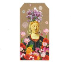 bookmark  Demeter  spring shrine  collage art  by MagpieWorkshop, $8.00