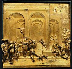Lorenzo Ghiberti, 1452, Histoire de Jacob - Porte du Paradis - Baptistère de Florence