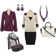 """""""Plum and Black- Plus Size Outfit"""""""