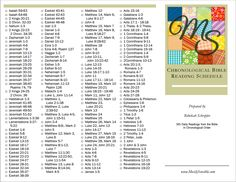 Read the bible in Cronological order!