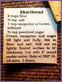 - Happy Cooking , In the food recipe that you read this time with the title Shortbread Cookies ., we have prepared this artic. Get this Amazing Cookies . Galletas Cookies, No Bake Cookies, Yummy Cookies, Cake Cookies, Cupcakes, Sandwich Cookies, Old Recipes, Vintage Recipes, Sweet Recipes