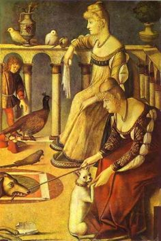 Dos damas de la corte de Carpaccio - 1490
