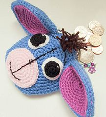 Eeyore Donkey Animal Coin Purse pattern by Wistfully Woolen Eeyore Donkey Animal Coin Purse Coin Purse Pattern, Crochet Coin Purse, Purse Patterns, Crochet Purses, Crochet Patterns, Crochet For Kids, Free Crochet, Crochet Baby, Eeyore