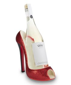 Take a look at this Red Glitter High Heel Wine Bottle Holder by Wild Eye Designs on #zulily today!