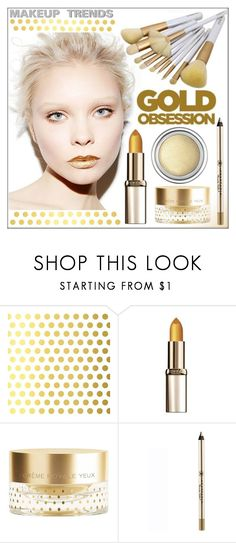 """""""Golden Girls: Gold Beauty"""" by whirlypath ❤ liked on Polyvore featuring beauty, Vellum, L'Oréal Paris, Orlane and Anastasia Beverly Hills"""