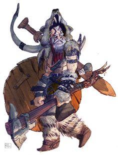 - Viking Sketch + Color