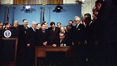 President Lyndon B. Johnson signing the 1967 Clean Air Act in the East Room of the White House. 1967, 1967, 1967, and NOW?