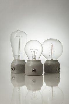 DIY: Concrete lamp.