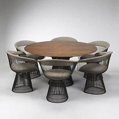 warren platner dining set