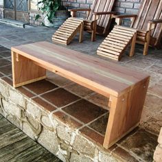 Outdoor Best Redwood Solid Backless Garden Bench - SBC-1711241910