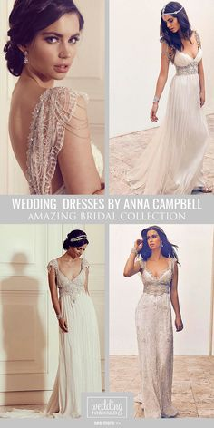Anna Campbell Gossamer 2016 Bridal Collection ❤ Anna Campbell's wedding dresses are stylish, amazing and truly beautiful. See more: http://www.weddingforward.com/anna-campbell-gossamer-bridal-collection/ #wedding #dresses