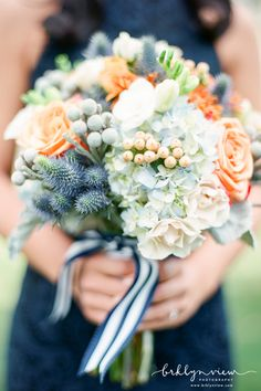 In love with this bouquet for a fall wedding. Photo by Brklyn View Photography