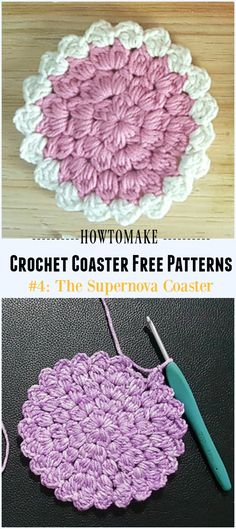 Crochet The Supernova Coaster Free Pattern - Easy #Crochet Coaster Free Patterns