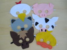 Child Size Farm Animal Masks - I already have a bunch of felt I can use :)