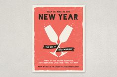 Edgy New Year's Flyer Template - Featuring a distressed background and artistic grunge font, this fun and vibrant flyer design suggests a festive yet laid-back celebration.