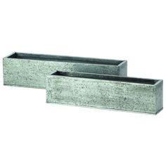 This Rectangular Galvanized Cube set is part of the Covington Abbey Collection. Two sizes: 18-inch x 4-inch x 4.5-inch and 21-inch x 5-inch x 5-inch , Pack of 2.